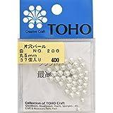 TOHO Kataana perla diaemetro exterior de aproximadamente 5 mm No.200 blancas sobre 37 meses de entrar