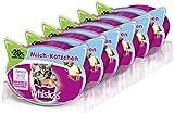 Whiskas Katzensnacks Knuspertaschen für junge Katzen Milchkätzchen, 6 Packungen (6 x 66 g)