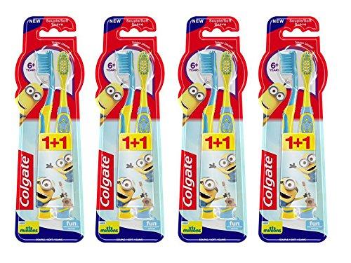 Colgate Oral Care Zahnbürste Kids Minions Duo 6+ Jahre 2Einheiten-Lot de 4