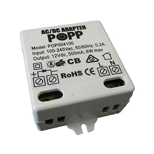 POPP POPE004100 Externes Netzteil für Rauchwarnmelder, 12 V, Weiß