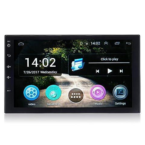 Alondy Android 6.0 voiture Radio stéréo 7 pouces Double Din Head Unité de soutien GPS Sat de navigation, Bluetooth 4.0, MirrorLink, WiFi AM Radio FM RDS, Condition féminine , SD USB,