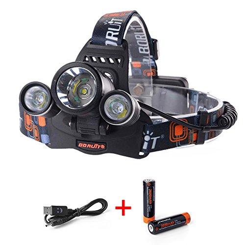 XCSOURCE® 5000LM 3X CREE XM-L T6 LED Faro Foco Linterna
