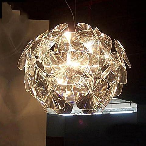 XXHX Suspendus la personnalité créative moderne nordique American Salon La Chambre Restaurant Salon Light art lustres,diametre 70 cm--La couleur transparente