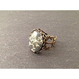 Ring Bronze Blüte Weiß