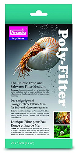 Aquarium Fisch Teich Arcadia Polyfilter Pad Für Marine/ Riff Standard 20.3cm X 10cm -