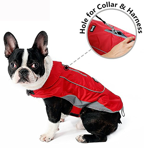 Waterproof Dog Coat With Harness and Collar Hole xsmall - xxxlarge sizes