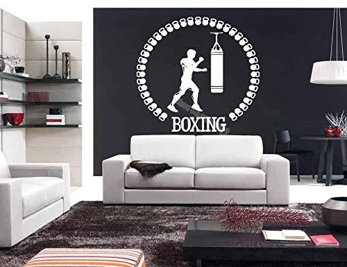 Deportista Guantes de boxeo Bolsa de boxeo Lucha Pegatinas de pared Gimnasio Kickboxing Deporte Calcomanía...
