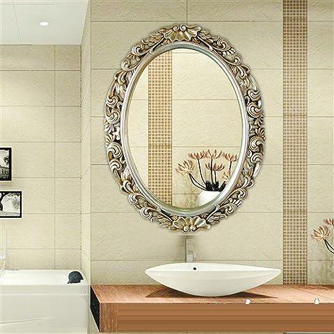 Oro Continental pared tallada Retro adherir los espejos decorativos Hotelthe Ktvtoilet espejo del