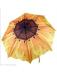 Sunflower Umbrella Sun Umbrella Anti-UV Special Bag Umbrella Creative Flower Umbrella for Car for Women Kids Students Light Windproof Compact Folding Umbrella Large Diameter 98cm