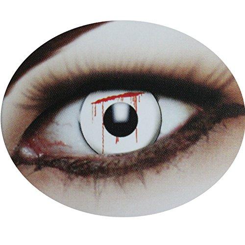 Fun Linsen, 12 Monate haltbar, verschiedene Motive im praktischen Aufbewahrungsbehälter, ohne Stärke, Halloween, Motivlinsen, farbige Kontaktlinsen, bunte Kontaktlinsen, bunt, Crazy Fun Linsen, Scherzartikel (Zombie Ideen Verkleiden)