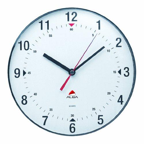 Alba-Horclas-Une-horloge-de-mur-circulaire-diamtre-de-25-cm-Blanc