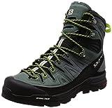 SALOMON X Alp High LTR GTX, Chaussures de Randonnée Hautes Homme, Gris (Urban Chic/Balsam Lime Green 000), 42 EU