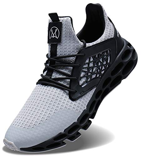 Wonesion Hommes Gym Chaussures Sport Running Course Baskets Casual Sneakers