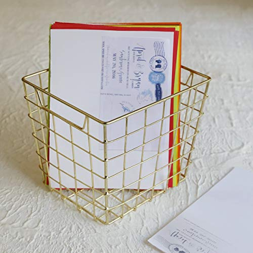 Handgefertigter Metall-Drahtkorb, Mehrzweck-Stifthalter für Büro und stationären Metal Wire Basket Schreibtisch Schreibwaren Veranstalter für Geschenke -