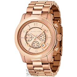 MK8096 Michael Kors Rose Gold Chronograph Watch