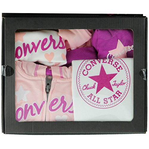 Converse 5 piece PINK track suit set - girls Age 9/12 months Eglantine