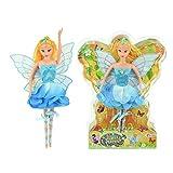 Toi-Toys Fairy Blumen-Fee blau Puppe 30cm Fantasie Spielzeug für Mädchen Fairy Queen
