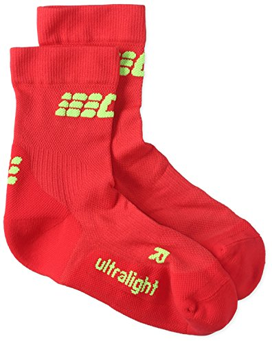 CEP Damen Ultralight Short Socks Kompressionsbekleidung, Rot, 4