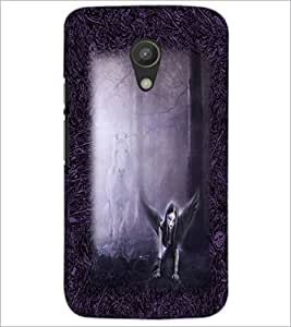 PrintDhaba Dark Angel D-2490 Back Case Cover for MOTOROLA MOTO G2 (Multi-Coloured)