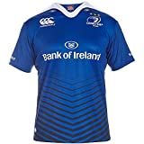 Canterbury Mens Leinster Home Pro Logoed Short Sleeve Rugby T Shirt