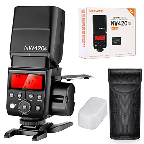 Neewer Wireless Master Slave Flash Speedlite 2,4G HSS 1/8000S TTL gn36& batería de litio 2000mAh con 500relámpagos A potencia plena para cámaras Sony A9a7riii a7rii A7R A6000A58A99A77II nw420s
