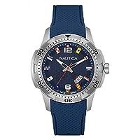 Nautica Reloj con movimiento cuarzo japonés Man Ncs 16 Flags Nai13515G  43 mm