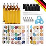 Anbbas 10 x 10 braun Glas ätherischen Ölen Flaschen mit Dropper, Öffner, 160pcs Markieren Etiketten Duft Kit