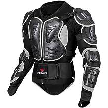 Sharplace Maglia Giacca Armatura Protezione Collana Vertebrale Accessorio Per Moto Sci Snowboard Unisex - Nero, XL