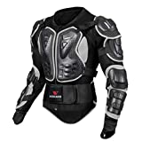 Sharplace Profi Herren Motorrad Protektoren Jacke Motorradjacke Protektor Hemd Brustschutz Schutzjacke - Schwarz XL