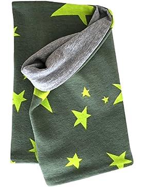 Wollhuhn - Bufanda - para niño verde Sterne Grüntöne Talla única