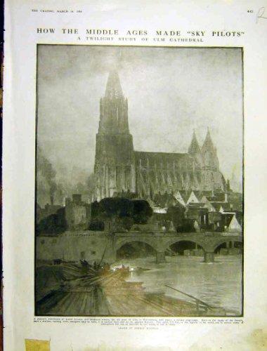 Ulm-Kathedralen-Dämmerungs-Studien-Porträt-Dame Pitti 1914 hier kaufen