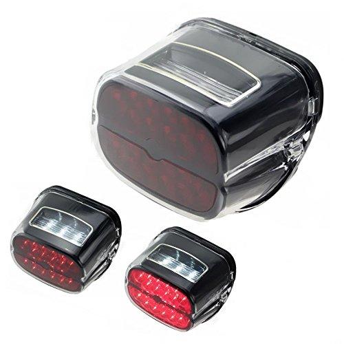 Moto LED Queue de frein lumière lampe de plaque d'immatriculation pour Harley Cross Bones Road King Road Glide Sportster 1200 883