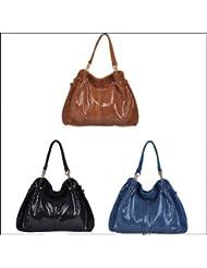 Sac à main PITONE, sac en cuir PU, sac bandouliére femme, sac à main tendance, sac à main cuir - Brun, Type 1