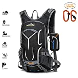 Keethem Cycling Backpack, 18L Waterproof Bicycle Rucksack Breathable Running Backpack for Fitness Climbing