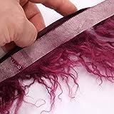 kawenSTOFFE Fellborte lila violett Purpur Fransen Zottel
