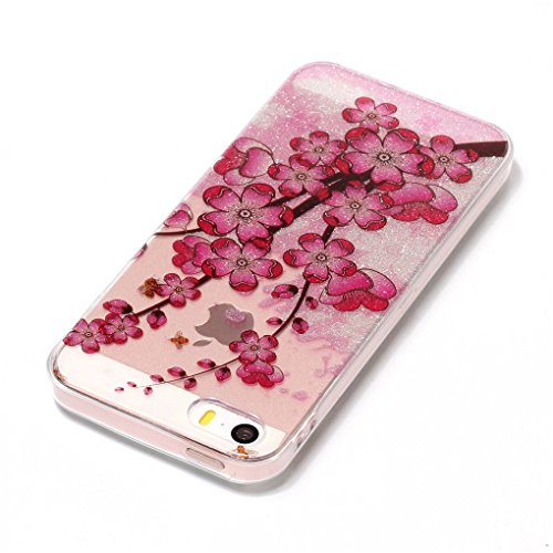 Apple iPhone SE 5 5S Hülle, SATURCASE Schönes Muster Bling Ultra Dünn Weich TPU Gel Silikon Schützend Zurück Case Cover Handy Tasche Schutzhülle Handyhülle Hülle für Apple iPhone SE 5 5S (Muster-2) Muster-6