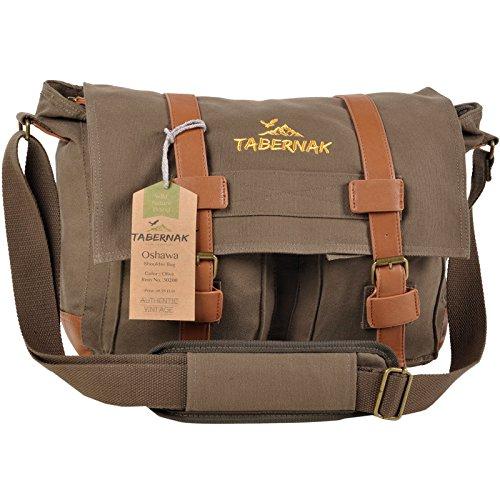 Fototasche TABERNAK Canvas Umhängetasche D-SLR OSHAWA plus Kamera Tasche Messenger Bag 30200 Army Olive