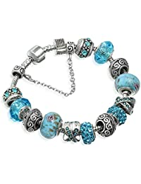 "A TE® Bracelet Charms Bleu Femmes ""Rêve Fascinant"" Cadeau #JW-B94"