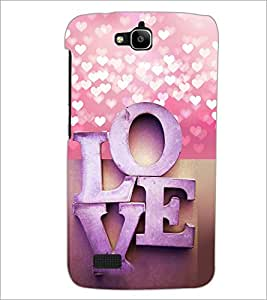 PrintDhaba Love D-4973 Back Case Cover for HUAWEI HONOR HOLLY (Multi-Coloured)