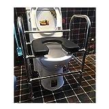 M-JJZX Telaio per Toilette con Maniglie, Supporto da Appoggio per Vasca di Sicurezza da Appoggio Supporto per WC Regolabile in Altezza E Maniglione per Disabili