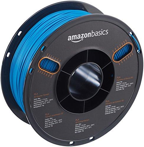 AmazonBasics - PLA 3D-Drucker Filament, 1,75 mm, Blau, 1 kg Spule