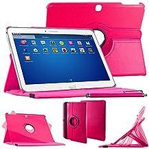 "ebestStar–Para Samsung Galaxy Tab 410.1SM-T530, T531T535–Funda–carcasa de piel PU soporte giratorio 360° + lápiz táctil, color rosa [Dimensions precises de votre calentador: 243.4X 176.4X 8mm, pantalla 10.1""]"
