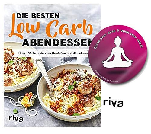 Riva Low-Carb-Abendessen: Über 130 Rezepte zum Genießen und Abnehmen Taschenbuch + 1 Yoga Sticker gratis