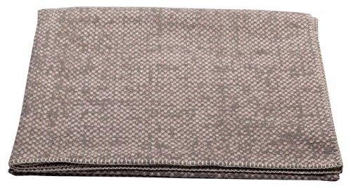 David Fussenegger Deco Plaid estructura, algodón y mezcla de tejidos, tiza, 200x 130cm