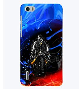 PRINTSWAG ACTION MAN Designer Back Cover Case for HUAWEI HONOR 6