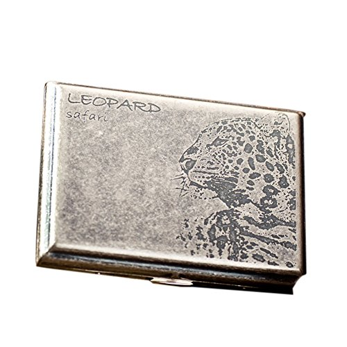 Preisvergleich Produktbild [Silber Leopard] Art und Weise Durable Nobility Bronze Männer Zigarettenetui Cig