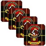 I Luv LTD Wallace Square Untersetzer Scottish Clan Crest 4er-Set aus Schottland