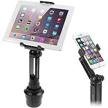iKross 2 in 1 Autohalterung, einstellbare und erweiterbare Autohalterung für Smartphone und Tablet; Autohalterung für Apple iPad Air, Samsung Tablet, iPhone 6/6s/6 Plus/6s Plus, HTC, LG, Nokia Smartphone, etc. - Schwarz.