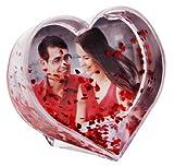 HAAC Schüttelkugel für Foto in Herzform mit roten Herzen Größe 9,6 cm x 9,6 cm