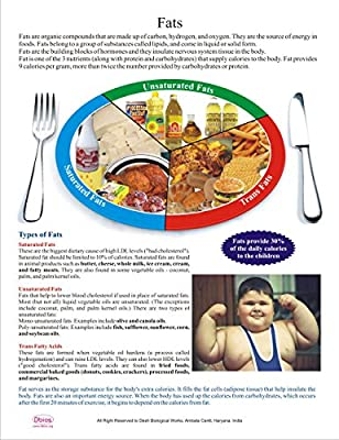 Dbios Digital Printed Fats Educational Nutrition Wall Charts Poster from Dbios